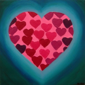 Hearts in love (30x30)